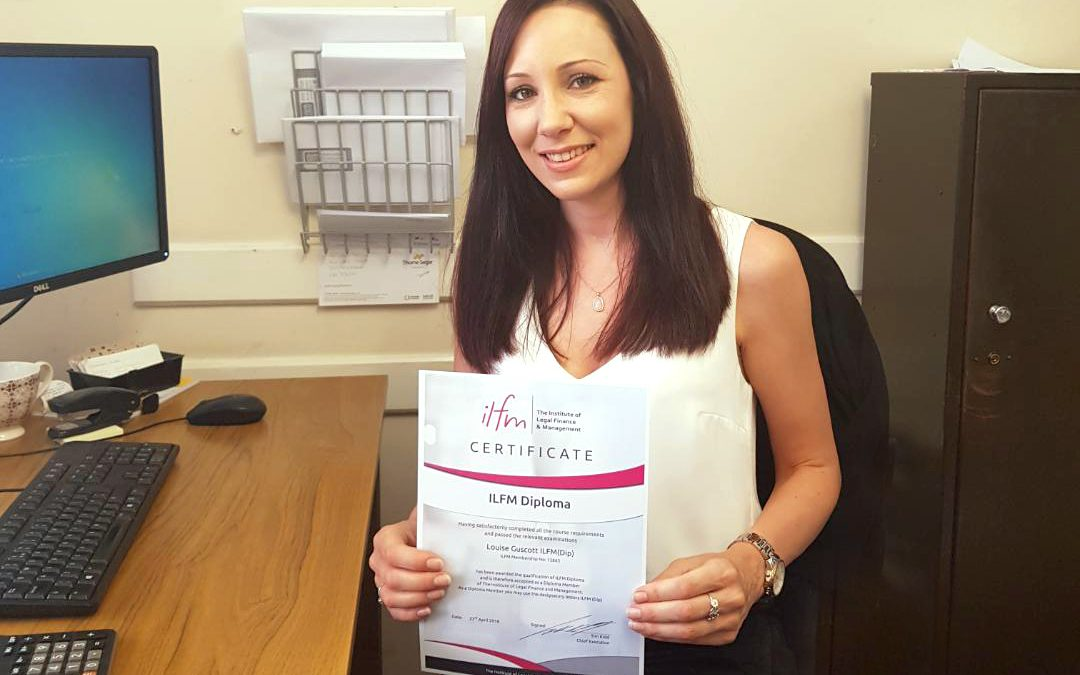 Head Cashier Louise gains ILFM Diploma